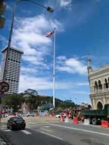 Fahnenmast in Kuala Lumpur