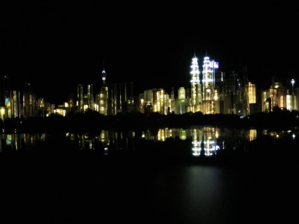 Modell von Kuala Lumpur bei Nacht