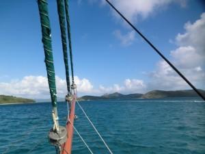 Blick vom Schiff nach Vorne