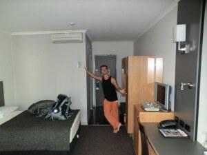 Erstes Hotelzimmer