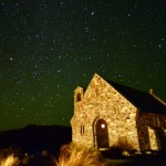 Sternenhimmel über der Kirche von Tekapo