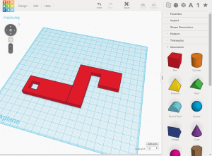 Modell in Tinkercad